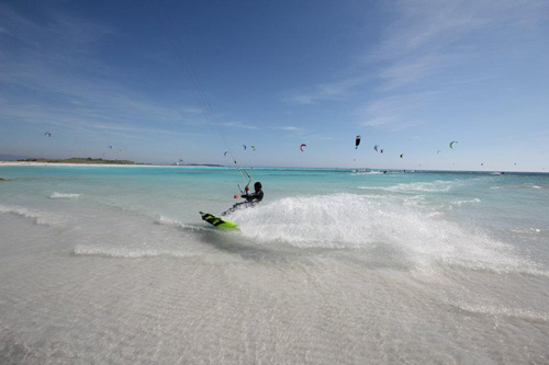 kite surf alle spiagge bianche